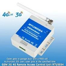GSM 3G 4G APP SMS afstandsbediening enkele relais schakelaar GSM gate opener RTU5034 voor sliding swing garage gate deuropener