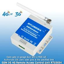 GSM 3G 4G APP SMS remote control single relay switch GSM gate opener RTU5034 for sliding swing garage Gate door Opener