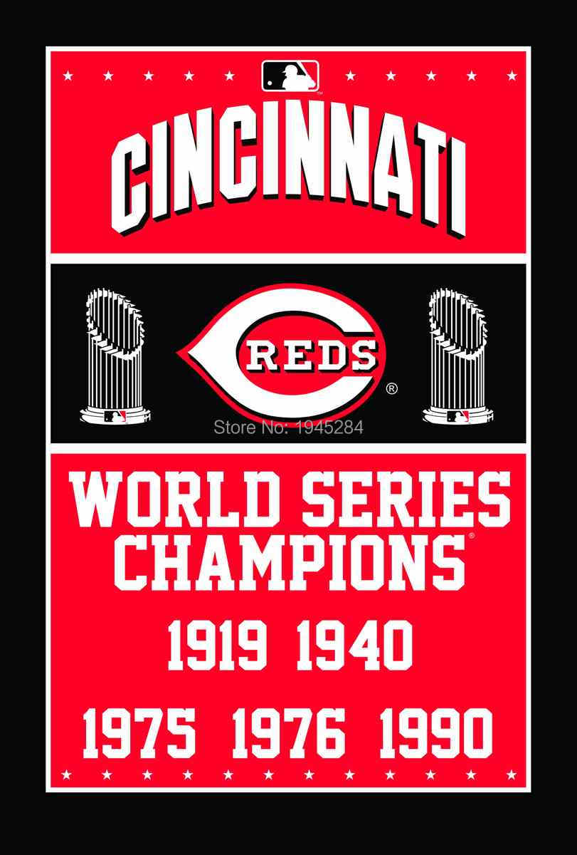 MLB Cincinnati Reds World Series Champions Flag Banner New 3x5ft 90x150cm Polyester 8825, free shipping
