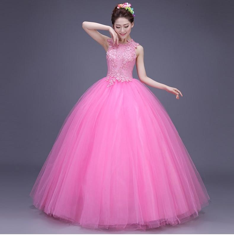 47ad3fbe7 Alta moda vestidos vestidos del Quinceanera bola 2015 de cuello alto  princesa 16 del vestido de la manga del casquillo del cordón del Organza  moldeado ZBQ18 ...