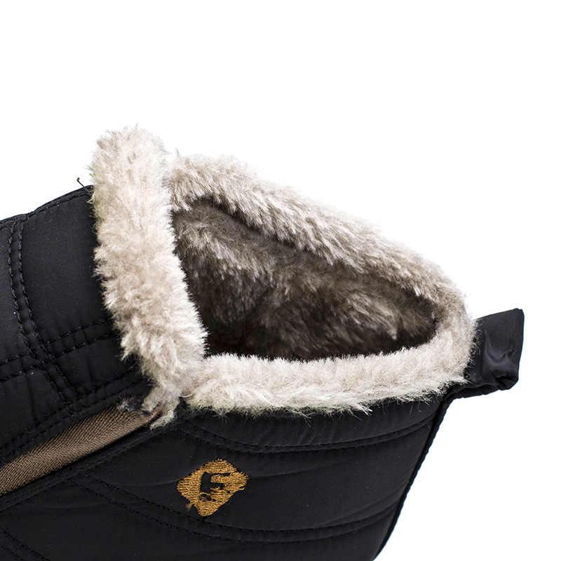 YIdemusha 2018 Novos Homens Da Moda Inverno Sapatos Botas de Neve Cor Sólida Pelúcia Dentro Fundo Antiderrapante Manter Aquecido Botas De Esqui Impermeável