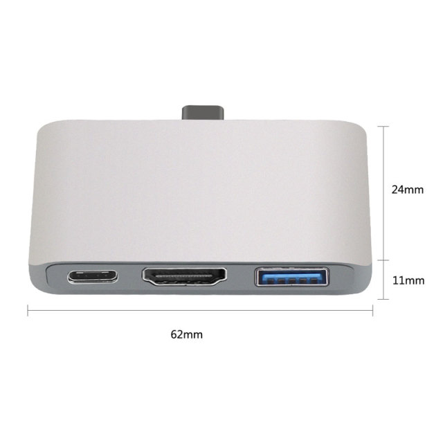 Mosible USB C Hub to HDMI for Dex Samsung Phone Nintend Switch Hub USB 3.0 with Power Adapter for Macbook Pro/Air Type-C Dock