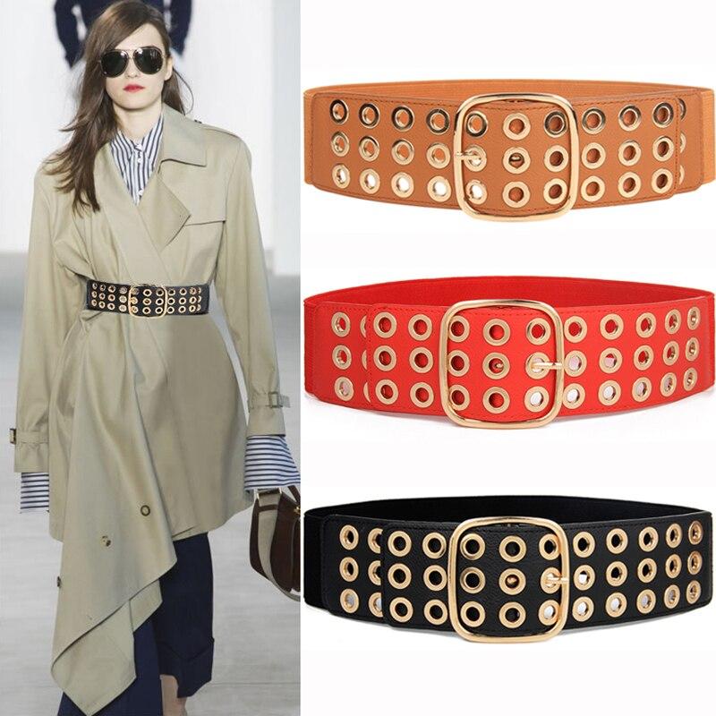 Newest Design Waistbands Lady Waist Belt Dress Adornment For Women Waistband Gold Cummerbunds High Quality Strap Elastic Belts