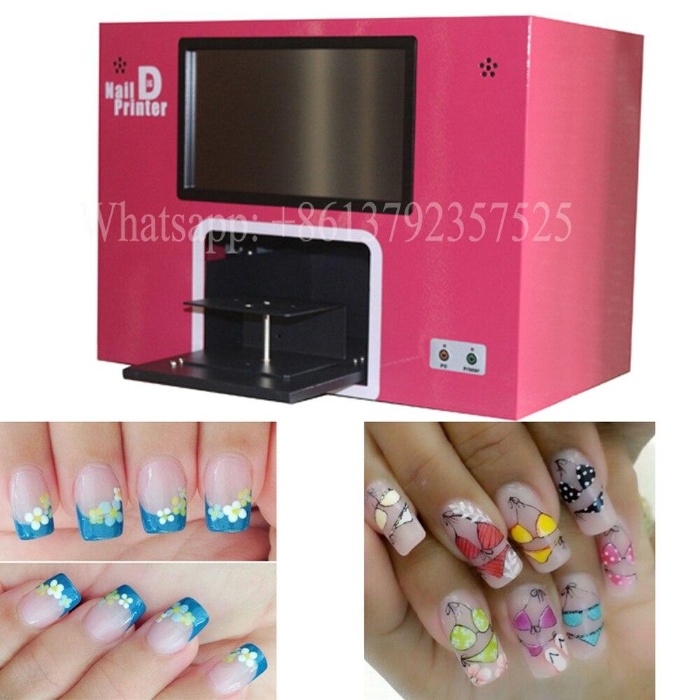5 nagels afdrukken Nieuwe verbeterde 3 jaar garantie digitale nagel printer cartridgesand poetsmiddelen vrij