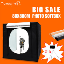 TRUMAGINE 80*80*80CM Photo Studio Softbox Light Tent Lightbox Photography Shooting Light Box With Portable Bag+Dimmer Switch
