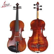 TONGLING Brand Master Hand-made Carved Maple Violin Naturally Flamed Customized Antique Violin 4/4 Violino w/ Full Accessories