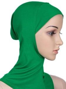 Image 2 - Zachte Onder Sjaal Hoed Cap Bone Motorkap Hijab Islamitische Hoofd Slijtage Hals Volledige Cover Inner Moslim Dame Elastische Ninja Vrouwen hoofddeksels Caps