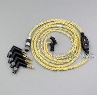 Чистого серебра + Позолоченные Смешанные кабель для наушников AKR03 Roxxane JH24 Layla Энджи AK70 AK380 KANN LN006019
