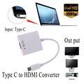 Тип C USB 3.1 Мужчина к HDMI Женский Кабель 1080 P Адаптер для Macbook Chromboo Аудио Кабель