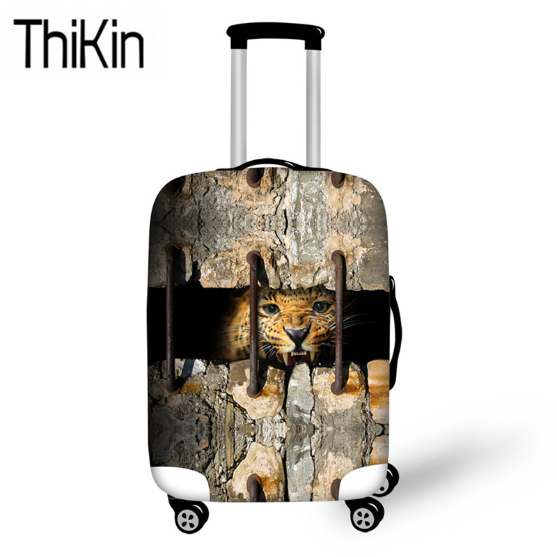 THIKIN Luggage Covers 3D Animal Tiger Printing Suitcase Protective For Trolley Case Cool Travel Accessories Apply To 18-30 Inch