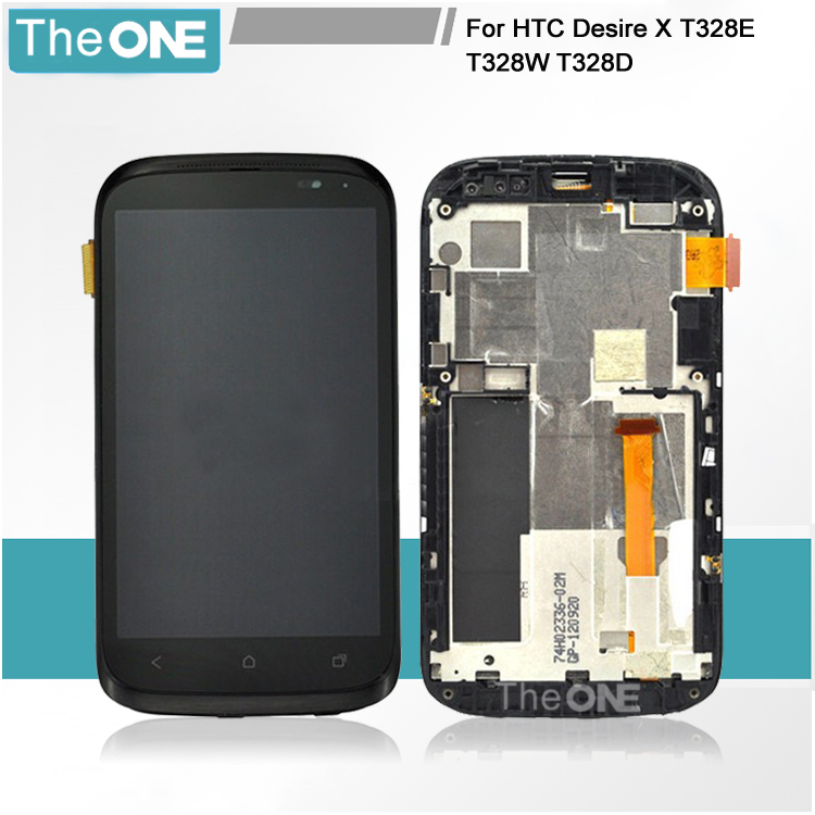 100% Guarantee Good LCD Display with Touch Screen Digitizer + Frame For HTC Desire X T328e Free Shipping lcd screen display touch panel digitizer with frame for htc one m9 black or silver or gold free shipping