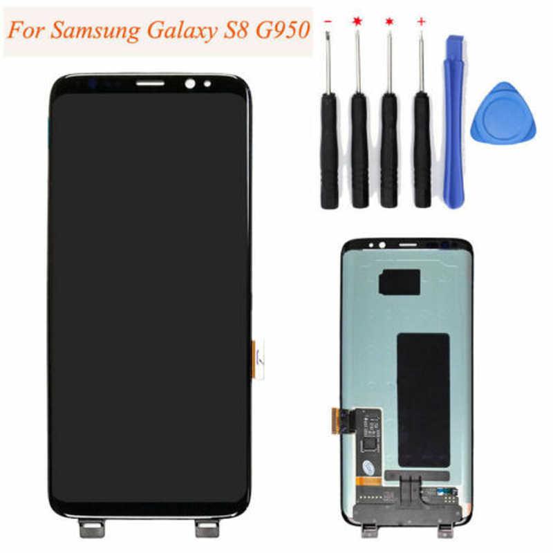 لسامسونج غالاكسي S8 G950F شاشة إل سي دي باللمس قطع غيار محول رقمي