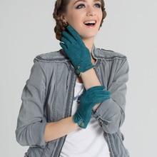 Women'S Autumn And Winter Warm Gloves Hand Thread Pigskin Suede Leather Gloves A2010-5