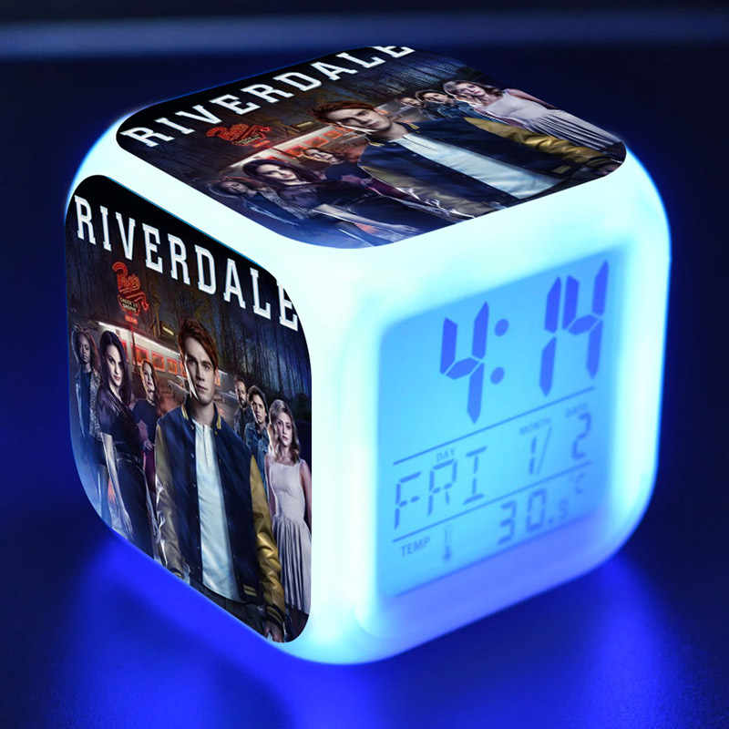 Riverdale Action Figures budzik led kolorowy błysk lampka nocna TV zabawki figurkowe