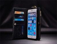 Luxury Retro Flip Case For Iphone 6 6S Plus 7 7Plus Samsung S7 Edge Lite Leather