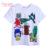 Pettigirl 2017 nuevo muchacho del verano de manga corta camiseta de algodón ropa de niño con mono impreso niños tops ropa bt90312-3l