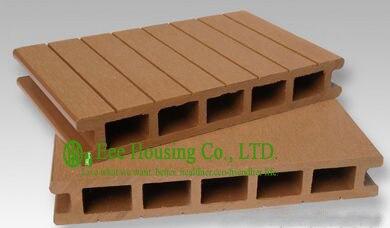 Anti-humidité Extérieure WPC platelage Pour Jardin, Installation Facile, Peu D'entretien, bois plastique composite plancher de la terrasse