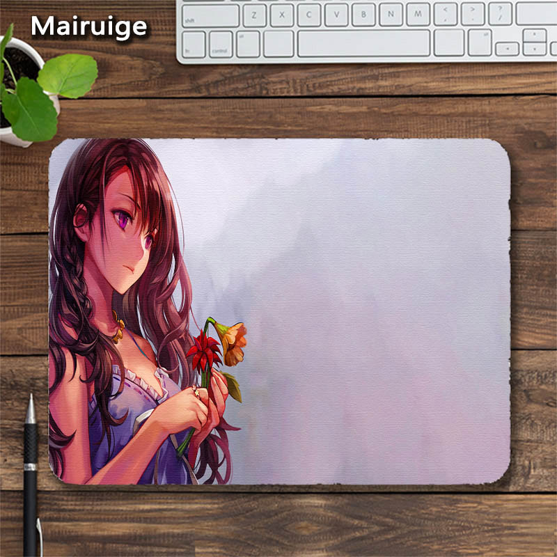 Mairuige Cute Girl Japanese Anime Girls Anti-skid Mousepad Customization Mouse Pad Rubber Pc Gaming Mouse Gamer Desk Mats 3size