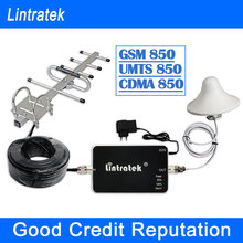 Lintratek 2G GSM 850 MHz/ 3G UMTS 850 MHz GSM 850MHZ Cellular Mobile Cell Phone Signal Boosters Amplifier Repeater Expander F10