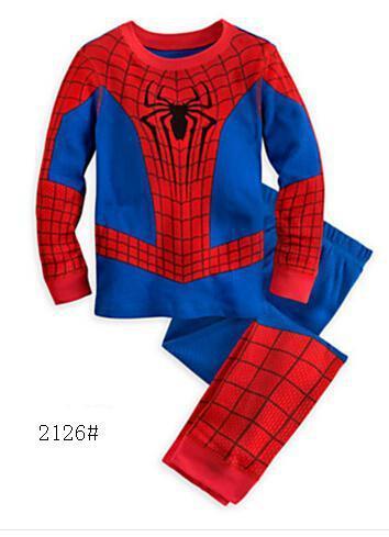 toddler cartoon Pyjama enfant Captain America   Pajama     Set   Boys Clothes Baby Spiderman   Pajamas   Batman Kids pijama infantil Cotton