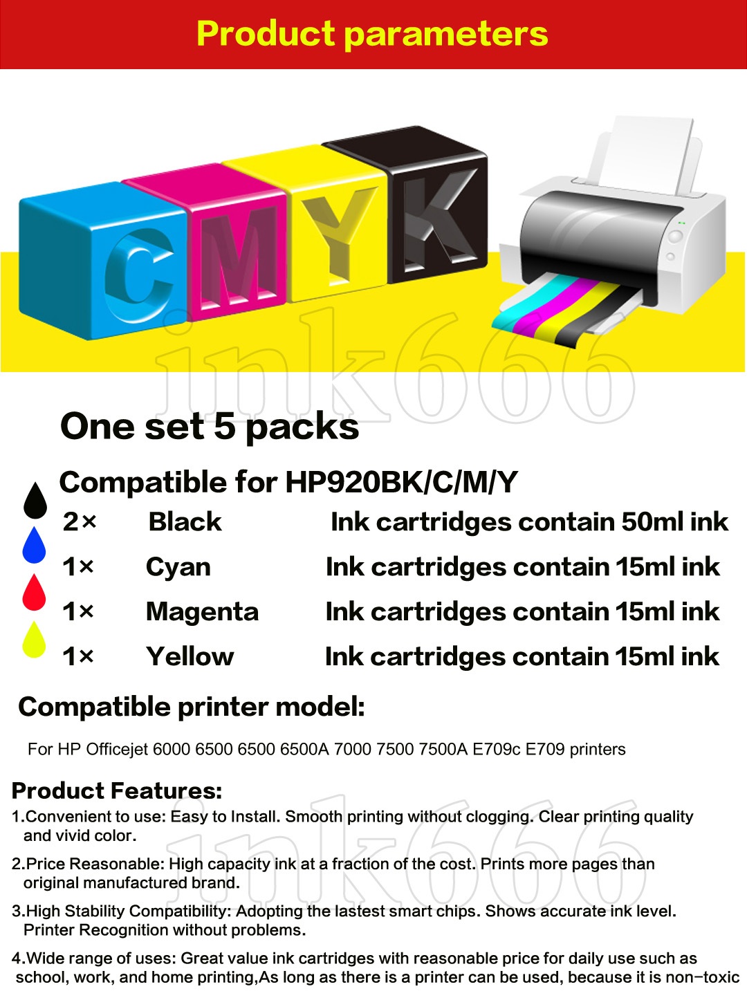 20 PACK 920XL NEW GENERIC 920 HIGH YIELD 920XL w//Chip+INK LEVEL for HP Printer