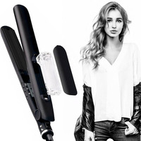 Professional Argan Oil Steam Hair Straightener Flat Iron Injection Painting Straightening Irons Hair Care Styling Tools