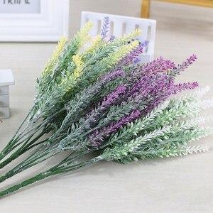 Image 4 - Romantic Provence decoration lavender flower silk artificial flowers grain decorative Simulation of aquatic plants