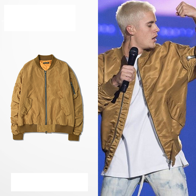 Fear of god justin bieber MA1 bomber jacket men hip hop Golden FOG windbreaker jacket jaqueta masculina military jacket