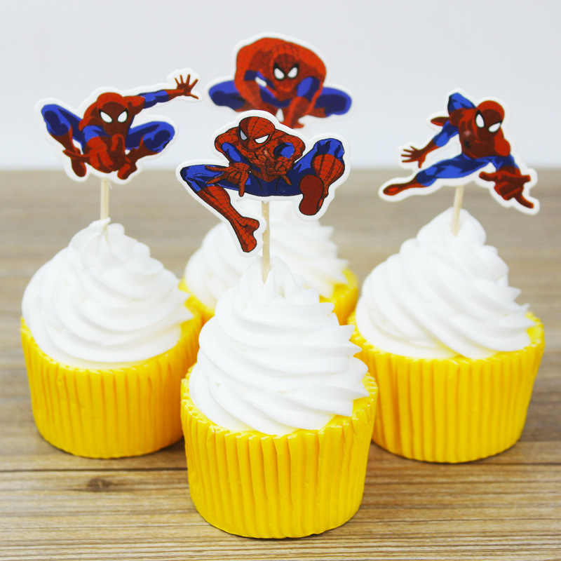 Detail Feedback Questions About 24pcs Set Spiderman Baby Shower