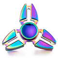Hand Spinner Rotating Professional Attention To Autism Four Corners Crabs Tip Gyro Aluminum Ball Rainbow Color Fidget Spinner