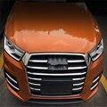 Auto carro sedan cover styling para Audi Q3 2016 ABS chromie cabeça frente corrida grill grille etiqueta acessórios de moldagem guarnição 11 pcs