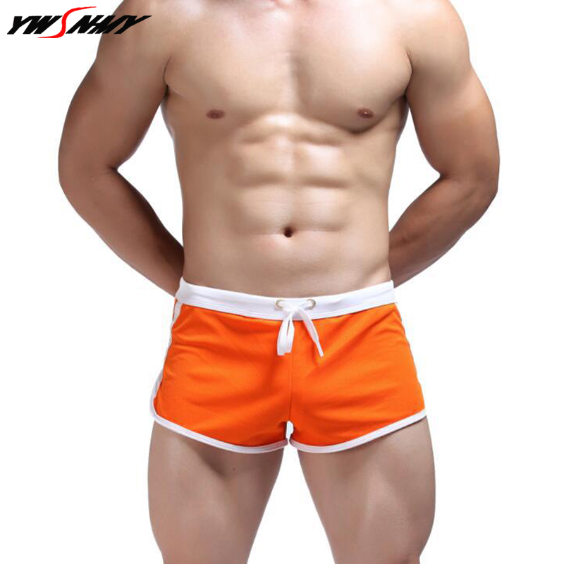 Fashion Men's Casual Boxer Underpants Household Shorts Men With Sexy G-string Straps Inside Pouch Loose Mesh Quick-Dry Boxers