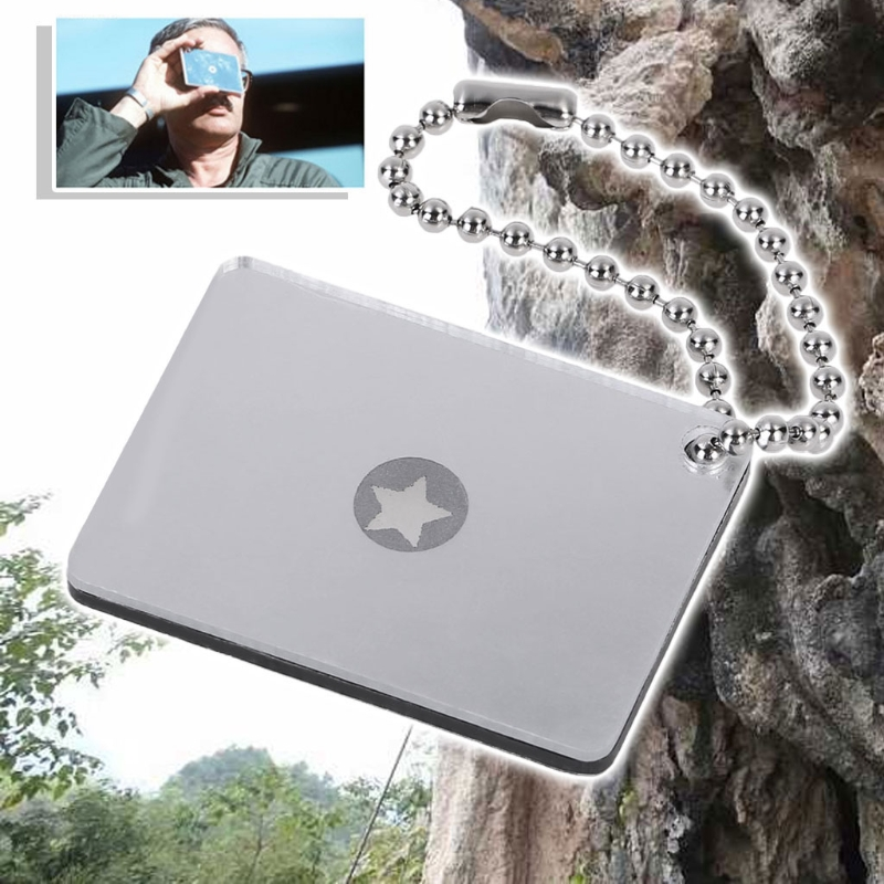Details about  /Outdoor Survive Signal Mirror Emergency Rescue Multifunction Outdoor Tool Device
