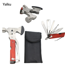 Yalku Multitools Pliers Tool Folding Pocket Knife Ax Hammer Screwdriver Serrated Bottle Opener Multitools Camping Tool Knife