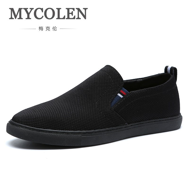 MYCOLEN 2018 New Arrival Spring/Autumn Men Fashion Men Sneakers Flats Casual Shoes Canvas Comfortable Loafers Men Shoes zplover fashion men shoes casual spring autumn men driving shoes loafers leather boat shoes men breathable casual flats loafers