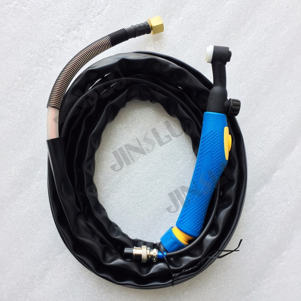 Air Cooled Argon WP9FV WP-9FV Flexible With Gas Valve Tig Welding Torch Blue Head 4 Meters Gas And Power Whole 1PCS цена