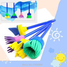 4Pcs/set DIY Sponge Drawing Paint Brushes Graffiti Stamps Toys Painting Creative Toys for Children Stamps Toys Christmas Gifts(China)