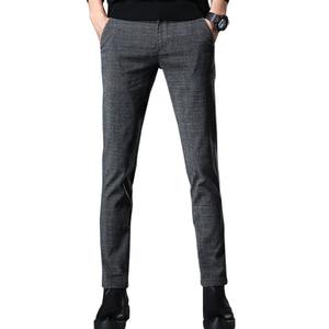 Image 5 - VOMINT 2020 New High Quality Mens Elastic Casual Pants Mens Business Dress Slim Jogger Stretch Long Trouser Male Suit Pants