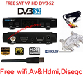 TV vía satélite decodificador Receptor Freesat Wfi V7 HD DVB-S2 + USB + AV + CABLE de HDMI + Soporte Diseqc powervu cccc youpron set top box