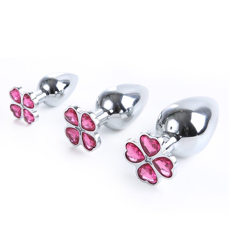 3 PCS/Set Four Leaf Clover Metal Crystal Anal Plug Stainless Steel Anal Butt Plug No Vibrator For Women/Men Sex Game Tools3 PCS/Set Four Leaf Clover Metal Crystal Anal Plug Stainless Steel Anal Butt Plug No Vibrator For Women/Men Sex Game Tools