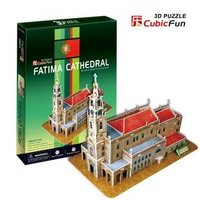 CubicFun 3D Puzzle Paper Model Children Gift DIY Toy Portugal Fatima Cathedral New Edition World S