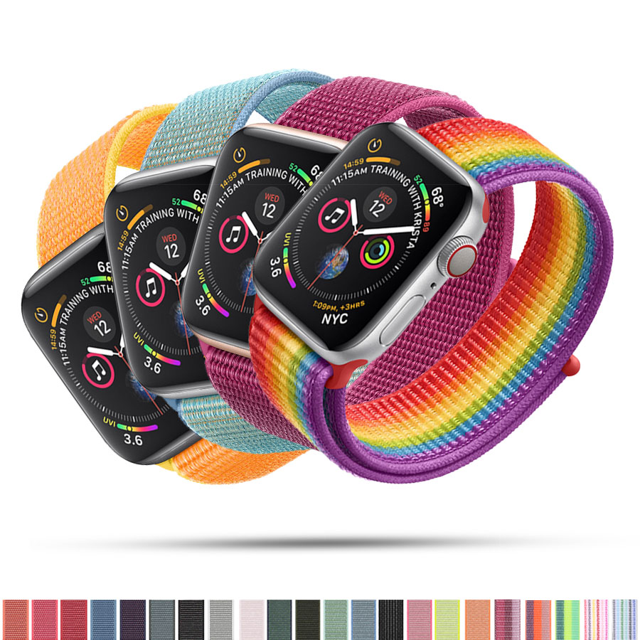 YOLOVIE For Apple Watch Band 38mm 40mm 42mm 44mm Sport Loop Nylon Woven Strap Bracelet Belt Wrist bands for iWatch Series 4 3 21