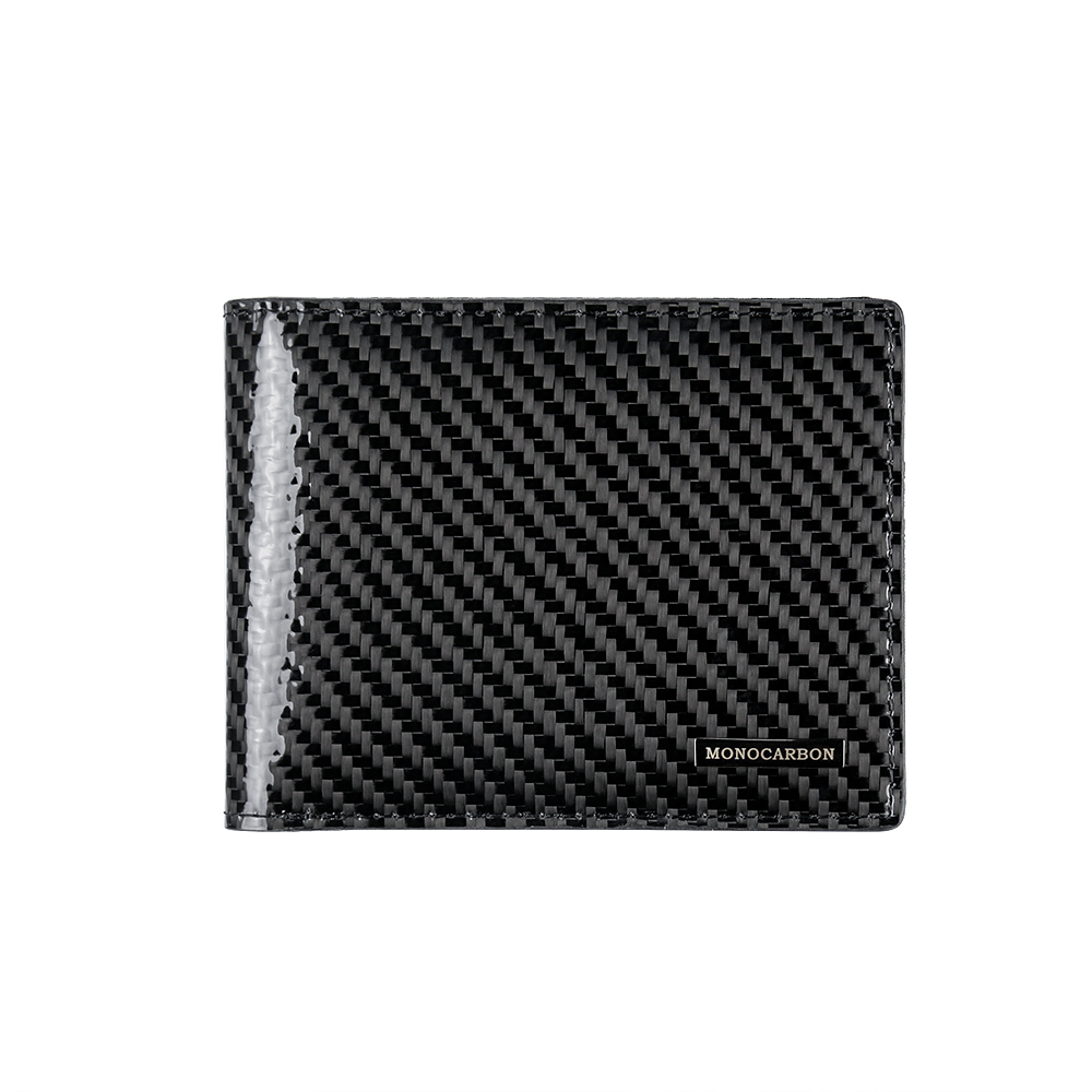 MONOCARBON Simple Genuine Carbon Fiber Slim Wallet Ultra Thin Durable Vintage Wallet