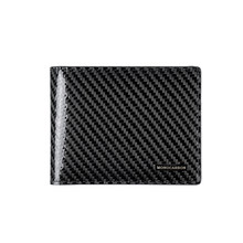 Monocarbon simples genuíno fibra de carbono fino carteira ultra fino durável vintage carteira