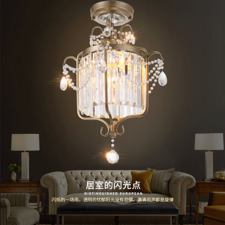 Crystal chandelier dining room lights entrance hall lighting light crystal chandelier dining room lights entrance hall lighting light staircase chandeliers corridor creative entry balcony in pendant lights from lights aloadofball Gallery