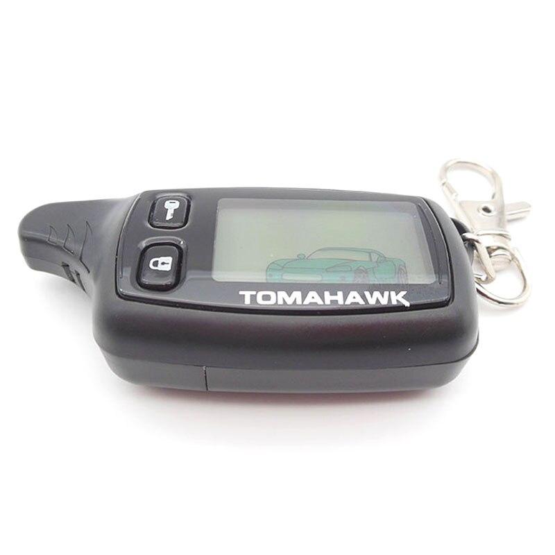 imágenes para Rusia versión TW9010 remoto lcd para Tomahawk TW9010 coche sistema de alarma del coche de dos vías a distancia envío gratis