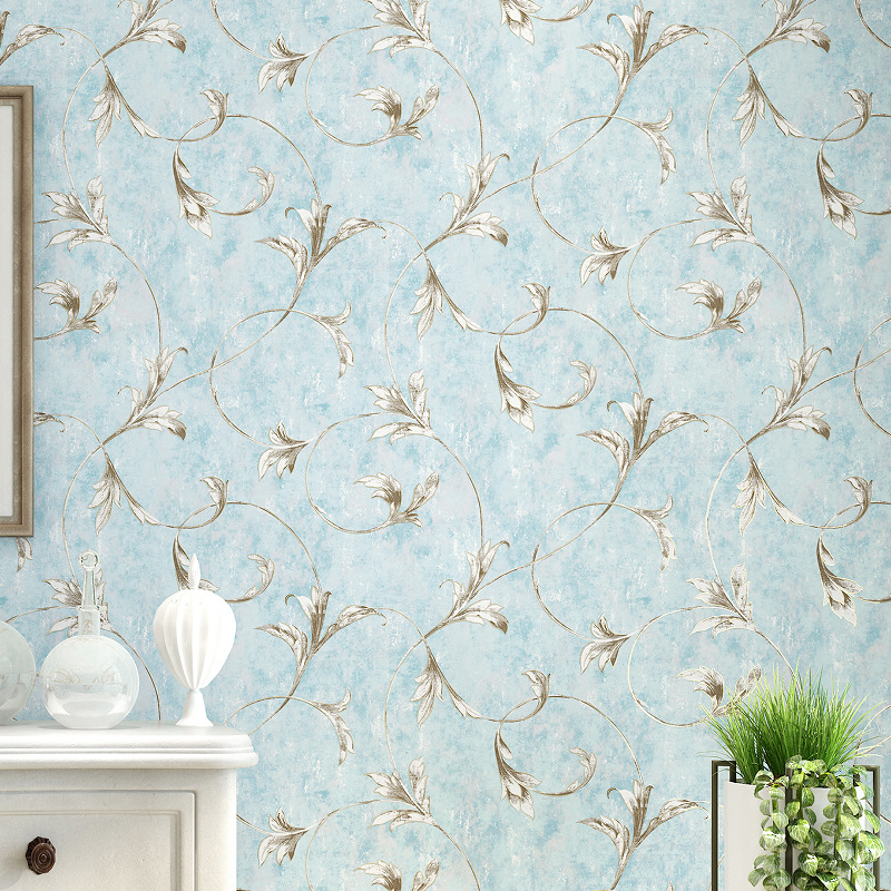 American Style Retro Blue Flowers Wallpaper 3d Embossed Living Room Background Wallpaper Non-woven Gray Wall Wallpaper Roll игрушка ecx ruckus gray blue ecx00013t1