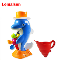 children play in the water baby bath scoop water swimming beach rotating cylinder flow observation Duck/Dolphin send Randomly