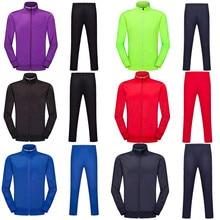 Детские футбольные куртки и штаны с длинными рукавами для бега и взрослых Детский спортивный костюм тренировочный мужской футбольный костюм 6805