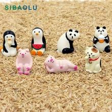 Lucky Cat Pig Panda Penguin Miniature figurine Japan Zakka R